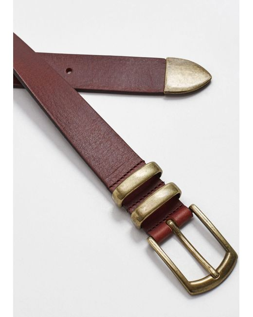 Mango | Brown Belt M-- for Men | Lyst