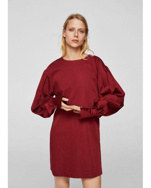 Mango - Red Dress - Lyst