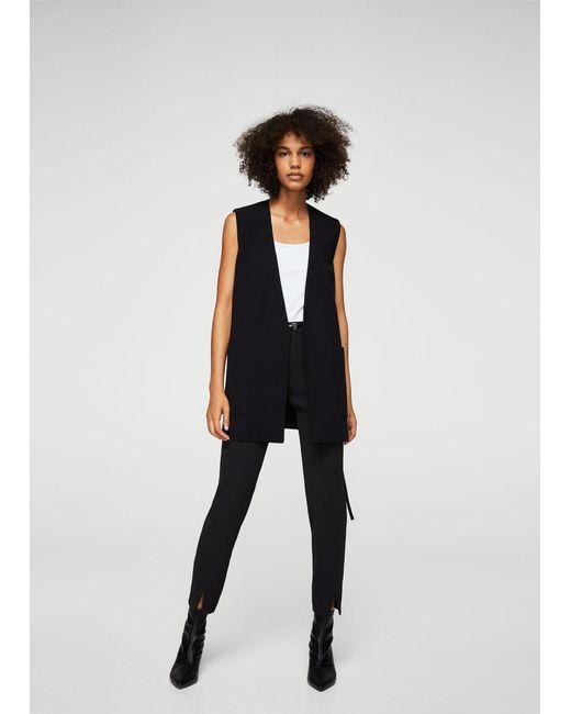 Mango | Black Flowy Straight-fit Trousers | Lyst