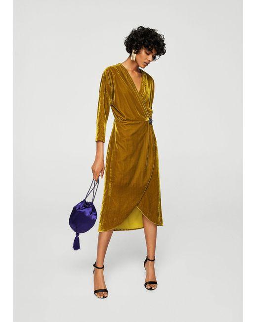 Mango - Purple Satin Bag - Lyst