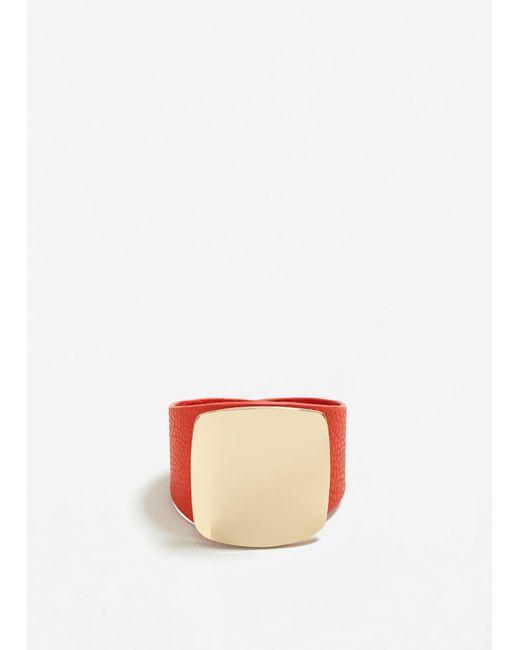 Mango | Orange Metal Appliqué Bracelet | Lyst
