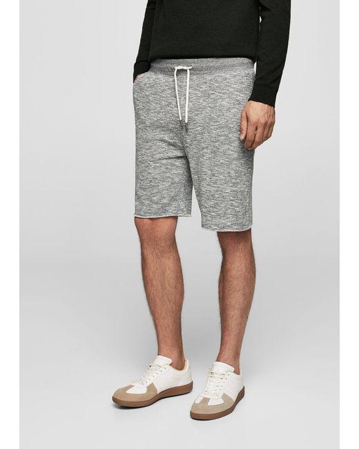Mango | Gray Cotton Jogging Bermuda Shorts | Lyst