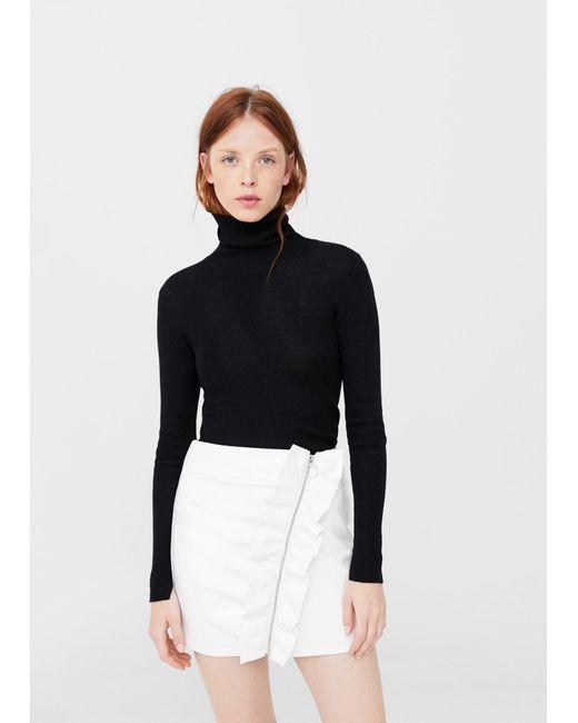 Mango | White Vinyl Skirt | Lyst