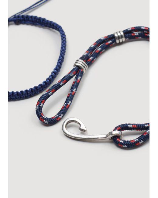 Mango   Blue Mixed Bracelet Set   Lyst