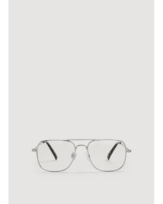 Mango - Black Transparent Square Glasses - Lyst