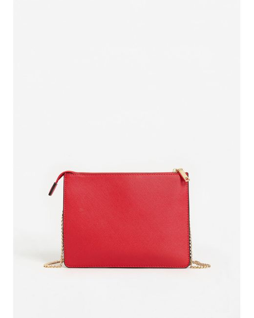 Mango | Red Saffiano-effect Cross-body Bag | Lyst