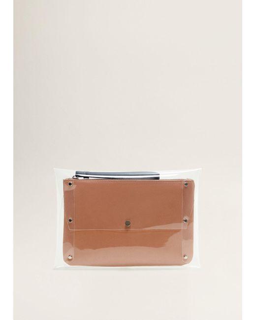 Mango - Pink Vinyl Cosmetic Bag - Lyst