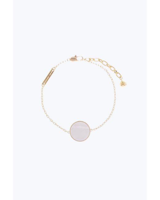 Marc Jacobs - Metallic Golden Pearlescent Chain Logo Bracelet - Lyst