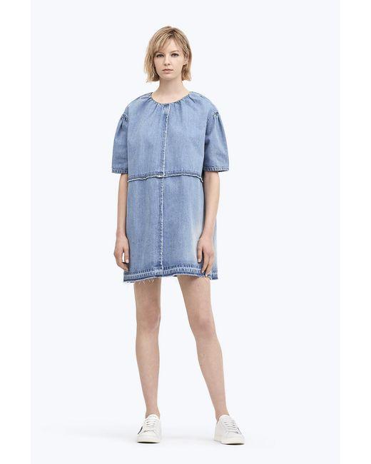 Marc Jacobs - Blue Denim Mini Dress - Lyst