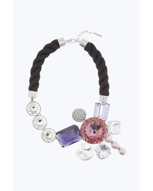 Marc Jacobs | Multicolor Rhinestone Cluster Necklace | Lyst