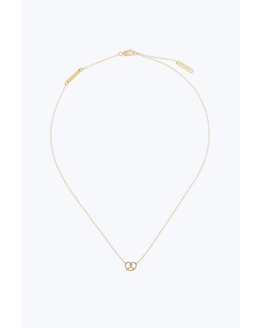 Marc Jacobs | Metallic Dipped Pretzel Pendant Necklace | Lyst