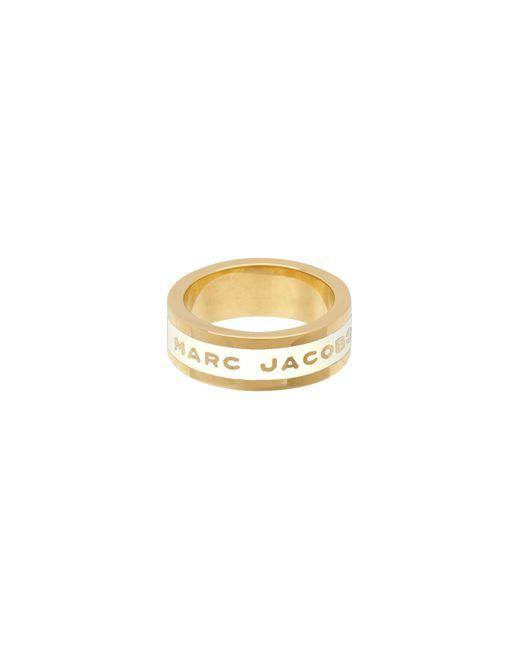 Marc Jacobs - Metallic Logo Disc Band Ring - Lyst