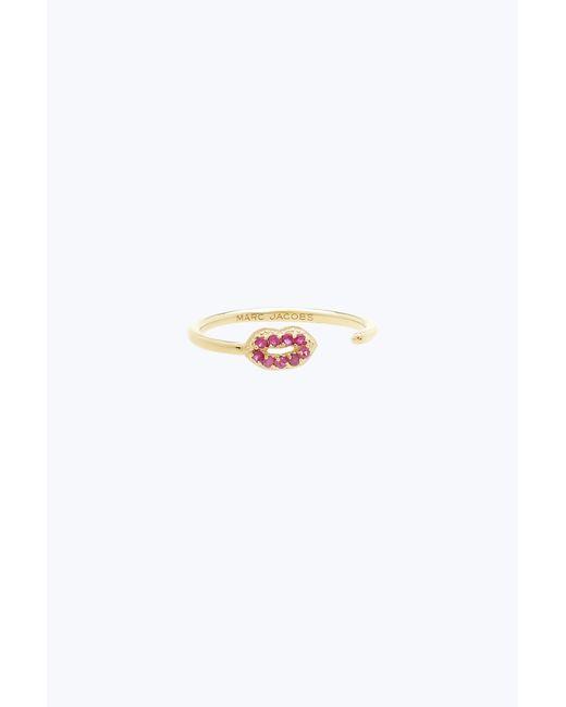 Marc Jacobs | Metallic Lips Open Ring | Lyst