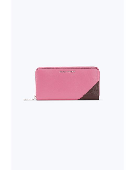 Marc Jacobs - Pink Saffiano Metal Letters Standard Continental Wallet - Lyst