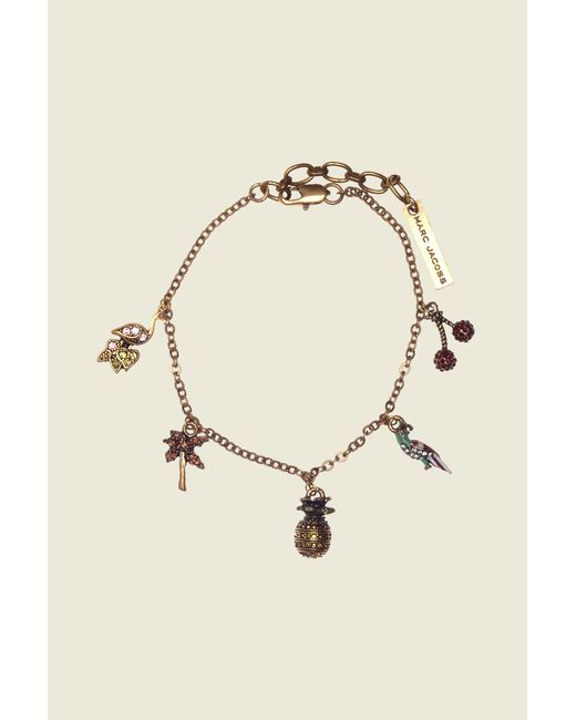 Marc Jacobs | Metallic Tropical Charm Bracelet | Lyst