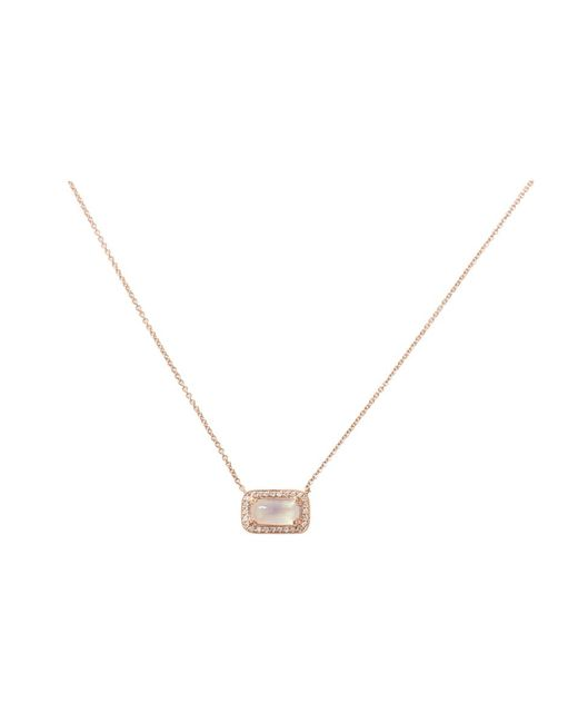 Dana Rebecca | Metallic Sylvie Rose Moonstone Necklace | Lyst