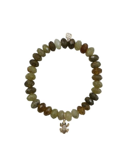 Sydney Evan | Green Frog Beaded Bracelet | Lyst