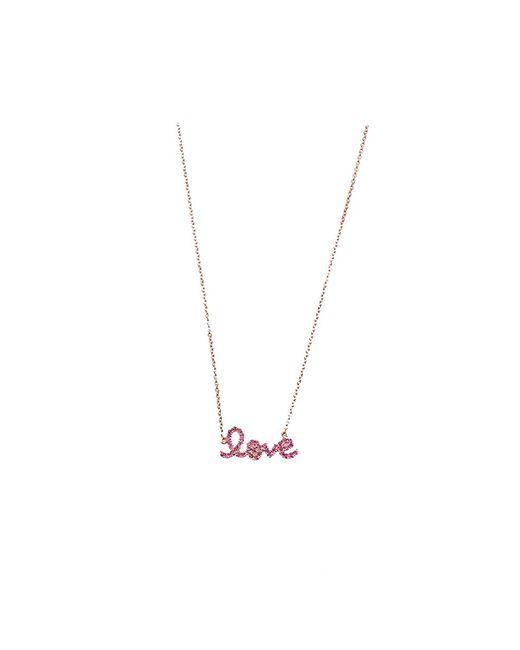 Sydney Evan | Metallic Love Necklace | Lyst