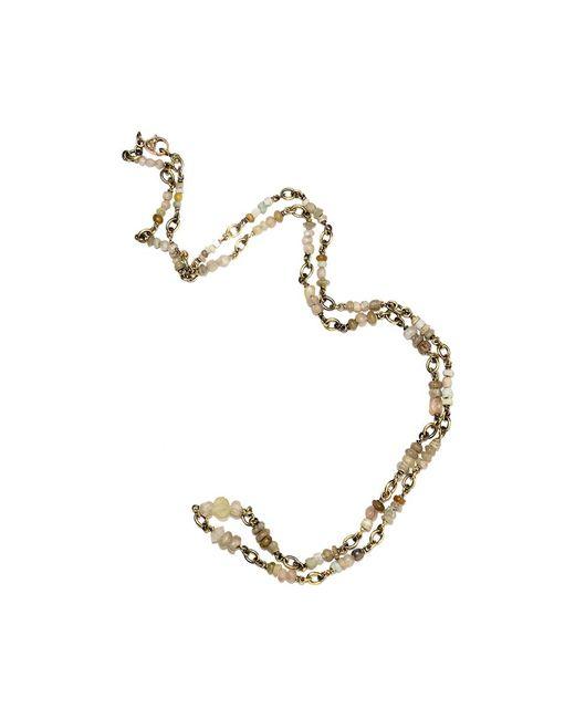 Sylva & Cie | Metallic Peruvian Opal Bead Necklace | Lyst