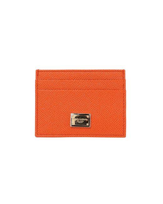 Dolce & Gabbana | Orange Card Holder | Lyst