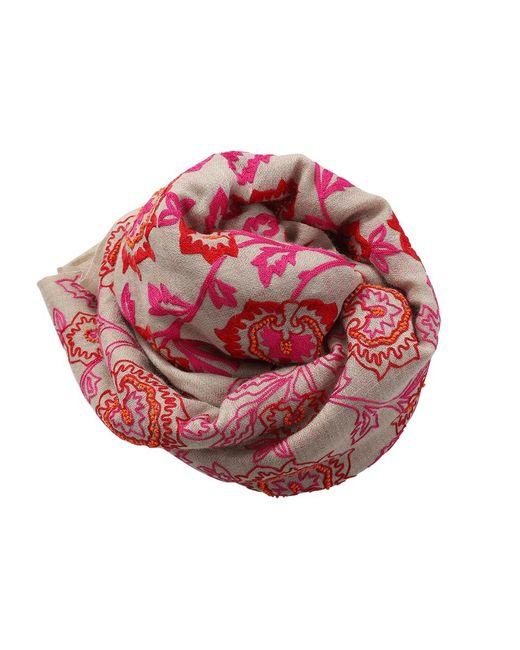 K. Janavi | Multicolor Floral Beaded Scarf | Lyst