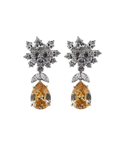 Fantasia Jewelry | Metallic Cluster Pear Shape Drop Earrings | Lyst