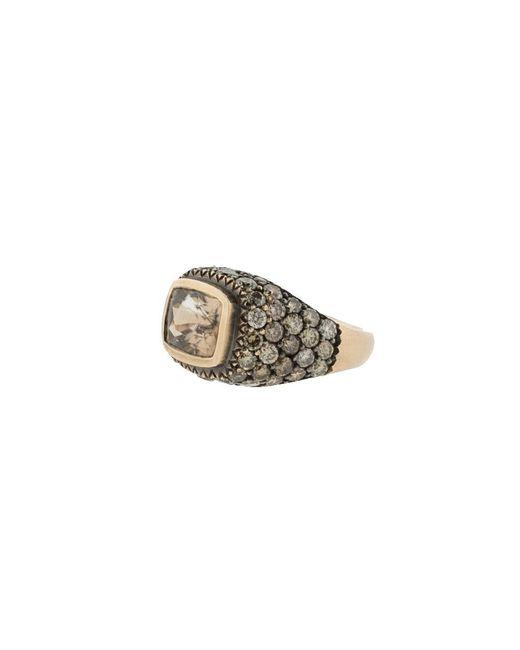 Sylva & Cie | Metallic Zircon Diamond Ring | Lyst