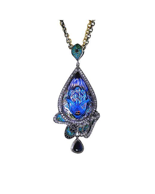 Sevan Biçakci | Blue Carved Peacock Lotus Neckace | Lyst