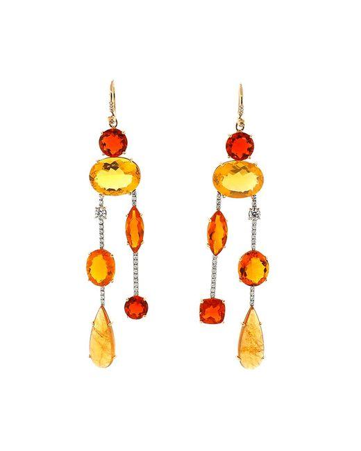 Irene Neuwirth | Multicolor Fire Opal Diamond Drop Earrings | Lyst