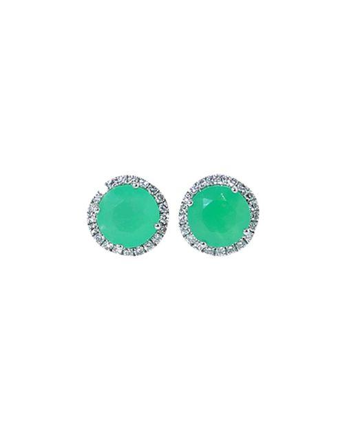 Dana Rebecca | Green Anna Beth Chrysoprase Stud Earrings | Lyst