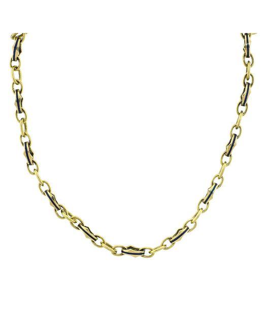 Sylva & Cie | Metallic Gold Link Necklace | Lyst