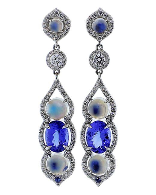 Inbar | Blue Cabochon Earrings | Lyst