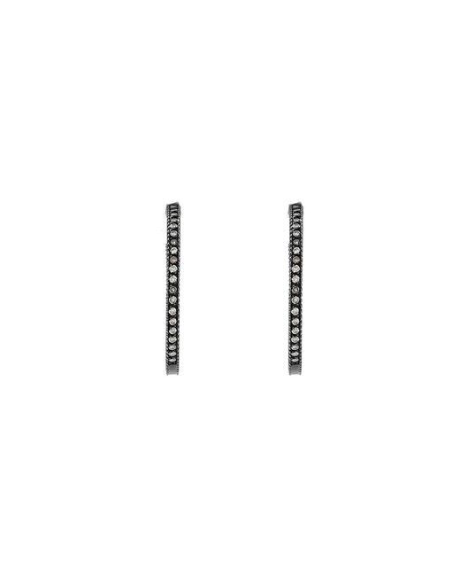 Yossi Harari | Metallic Lilah Pave Hoop Earrings | Lyst