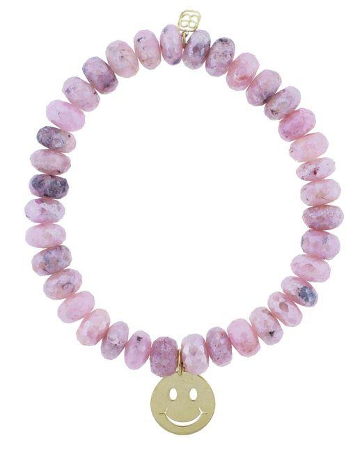 Sydney Evan - Pink Happy Face Charm Bracelet - Lyst