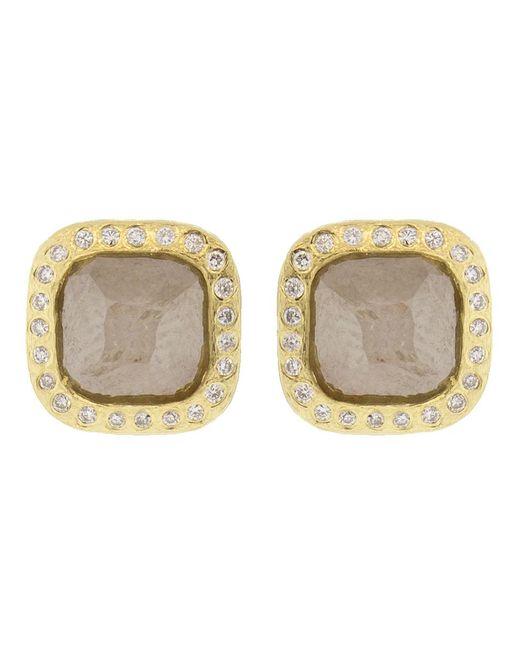 Todd Reed - Metallic Fancy Cut Diamond Stud Earrings - Lyst