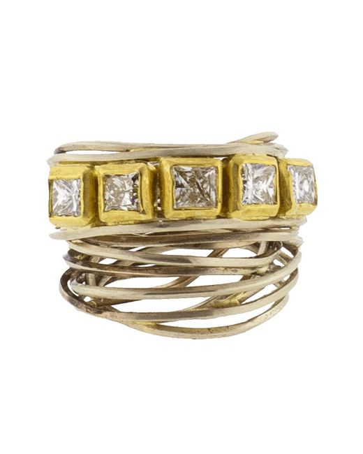 Boaz Kashi - Metallic Princess Wire Wrap Ring - Lyst