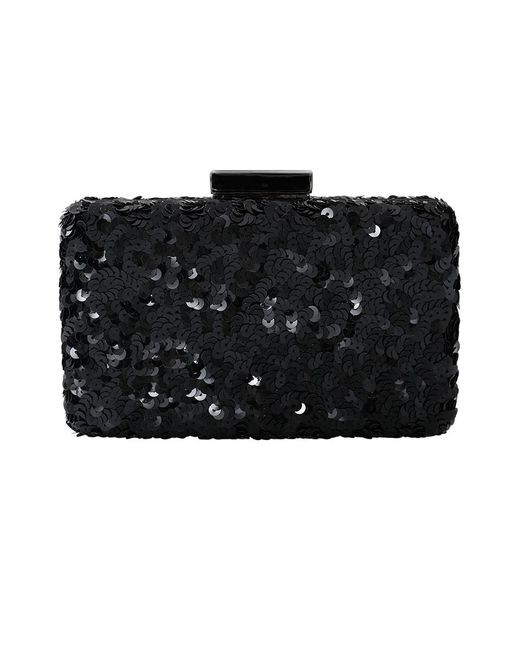Oscar de la Renta - Black Rogan Sequin Box Clutch - Lyst