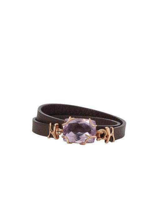 Federica Rettore - Metallic Gemma Amethyst Wrap Bracelet - Lyst