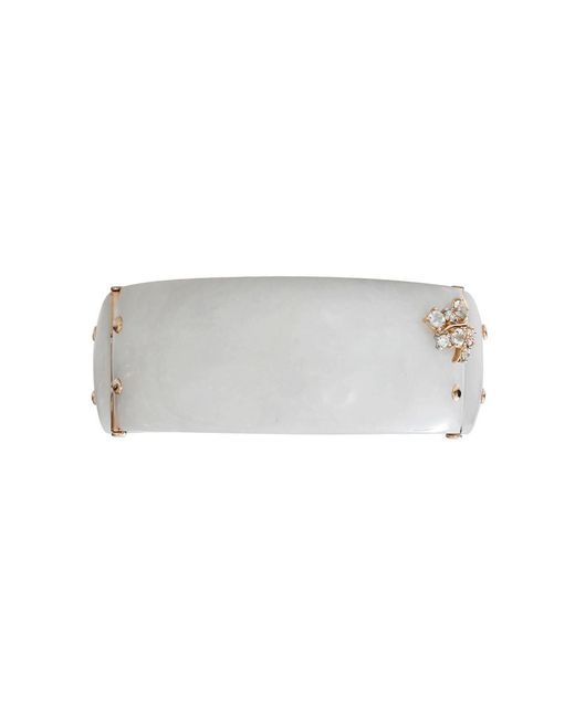 Federica Rettore | White Gea Milky Quartz Cuff | Lyst