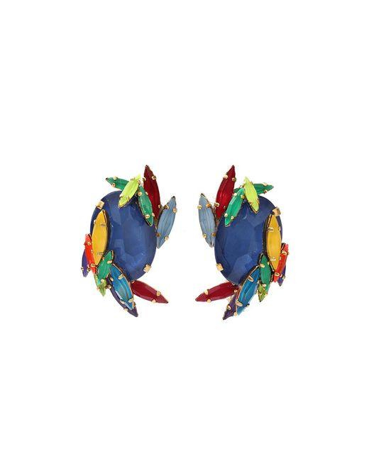 Erickson Beamon | Blue Rhinestone Splash Earrings | Lyst