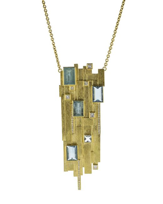 Todd Reed | Multicolor Aquamarine Pendant Necklace | Lyst