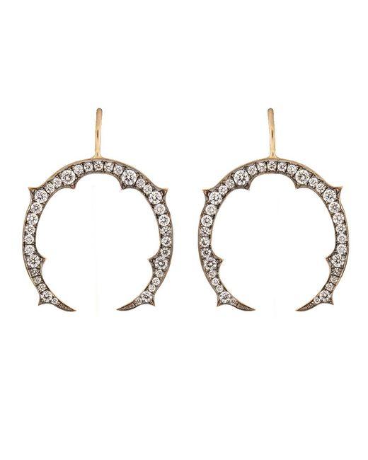 Sylva & Cie - Metallic Diamond Horseshoe Earrings - Lyst