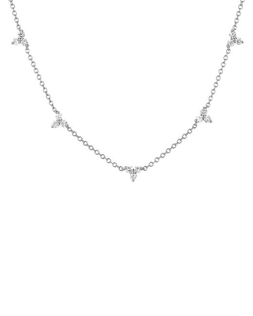 EF Collection - Metallic Five Triangle Necklace - Lyst