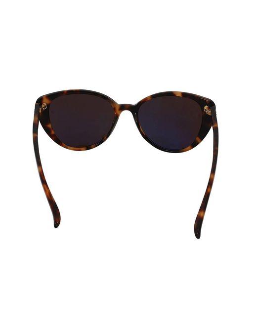 d46ba39bcb ... Linda Farrow - Brown Cat-eye Sunglasses - Lyst
