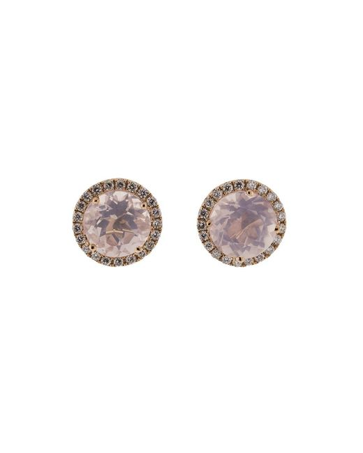 Dana Rebecca | Anna Beth Pink Quartz Stud Earrings | Lyst