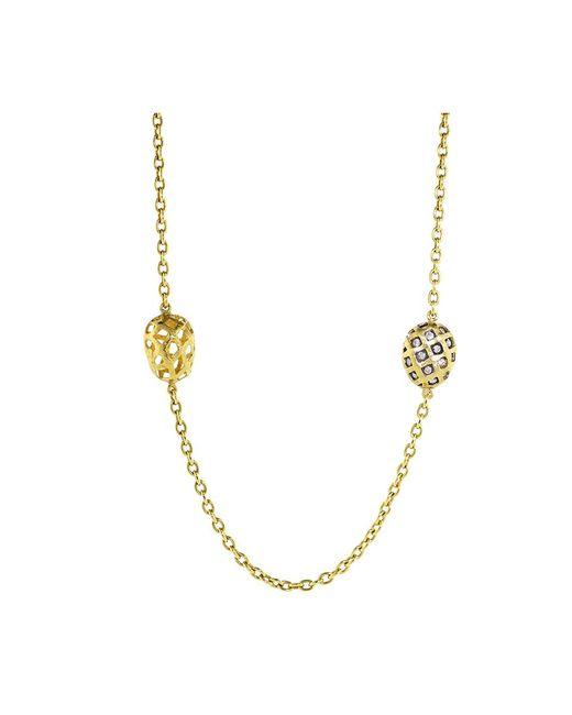 Yossi Harari - Yellow Roxanne Rattan Wrap Diamond Necklace - Lyst