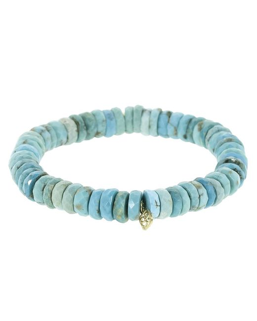 a49afb941 ... Sydney Evan - Blue Small Pave Elephant Charm Bracelet - Lyst