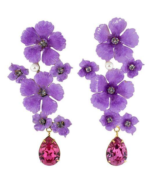 Jennifer Behr - Purple Narcissa Earrings - Lyst