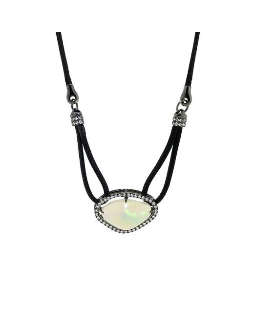 Inbar | Metallic Opal Pendant Necklace | Lyst