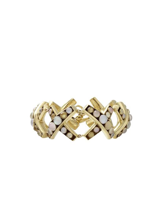 Vaubel   Metallic Round Stone X Bracelet   Lyst